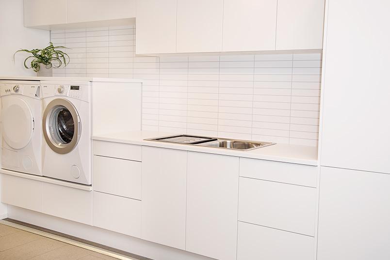 Vaskerom og kjøkken